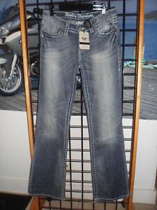 NOS Harley Davidson Womens Contoured Boot Cut Stretch Blue Jeans 99124-13VP