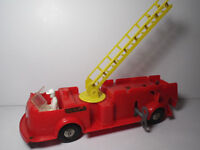 Vintage 1950s 1960s MARX DELUXE TRUCKS New York  City Fire NYCFD WIND UP TOY
