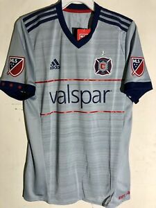 Adidas Authentic MLS Jersey Chicago Fire Team Grey sz L