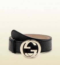 Gucci Embossed GG Buckle Belt in Black