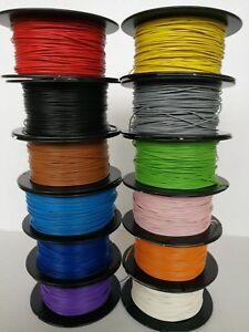 Kabel Litze Schaltlitze Kupferlitze 0,14/0,25/0,5/0,75/1,0/1,5mm² freie Farbwahl