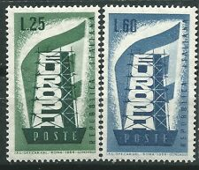 ITALIA EUROPA cept 1956 Sin Fijasellos MNH