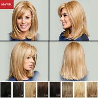 Long Straight Human Hair Wigs For Women Elegant Long Hair Wigs Straight Wig