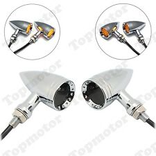 Universal Chrome Smoke 20 LED Bullet Turn Signal Light Chopper Bobber Custom