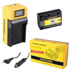 Batteria Patona + caricabatteria Synchron LCD USB per Sony HDR-PJ10,HDR-PJ10E