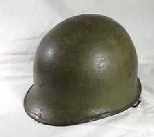 WW2 Circa 1943 Vintage front seam swivel bail M1 helmet + tortoise shell liner