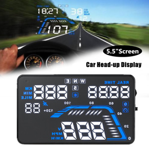 "5.5"" Car GPS Head-up HD Display Speedometer Car Trip Computer HUD Projector Part"