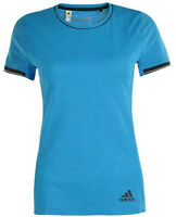 New Adidas ClimaChill Running Top T-Shirt - Blue - Ladies Womens Gym Fitness