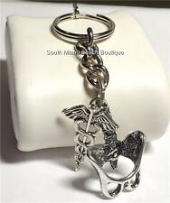 Caduceus Keychain Spine Doctor Nurse Medical Gift RN MD DO Chiropractor PurseTag