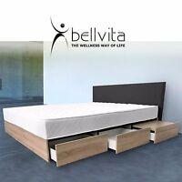 NEU! bellvita Wasserbett mit Bettkasten Schubladen Kopfteil Nachttische +AUFBAU!