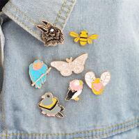 Enamel Butterfly Bee Animal Brooch Pins Shirt Collar Pin Breastpin Jewelry jo