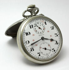 ZENITH Alarm TASCHENUHR Reisewecker Militär swiss Pocket Travel WATCH 1920