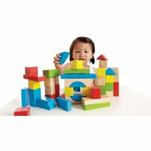 HAPE Natural and Color Maple Blocks - Set of 100