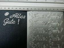 Stickerbogen, Alles Gute, Silber, Groß Nr. 4404
