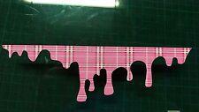 Pink Tartan Drip Funny Sticker Car bumper door van joke vag jdm peep Girly gti