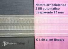 Fettuccia, riloga,arricciatenda per tende e tendaggi trasparente (professionale)
