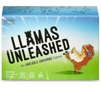 LLAMAS UNLEASHED CARD GAME TeeTurtle TEE4122 Lamas from Unstable Unicorns! Base
