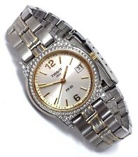 RARE Tissot 1853 PR50 Quartz 0.50 ct Diamond Bezel/Lugs Date Watch (J336/436K)