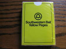 Southwestern Bell Yellow Pages Deck Of Playing Cards  SEALED      Lot#  TV 1A