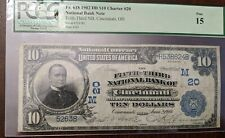 $10 National Currency 1902 DB FR618 Fifth third bank of Cincinnati PCGS 15 *RARE