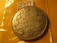 Canada 1931 Silver 50 Cent Coin Rare Keydate Coin ID#J479.