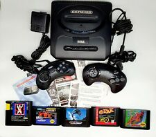 Sega Genesis System Console with Box 6 Pak Game extra controller more+ See pics