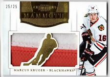 Marcus Kruger 2011-12 Panini Dominion Mammoth 2 Color PATCH Blackhawks #'d 25/25