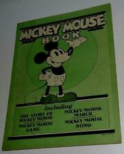 "Rare Disney1930 1St""Mickey Mouse Book""Complete Vf+/8.5+Comic Strip Vs-Bibo&L Ang"