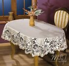 Thick Lace Tablecloth Natural Golden beige Oval Quality Product