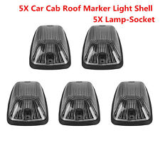 5X Smoke Lens Roof Cab Top Running Marker Light Cover For Car Truck SUV VANS 4X4