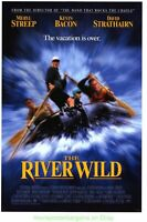 THE RIVER WILD MOVIE POSTER Original SS Near Mint 27x40 KEVIN BACON MERYL STREEP