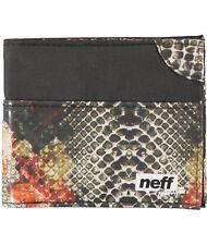 Neff Snake Life Bifold Wallet Forever Fun Black One Size Skate Fashion Cool NWT