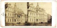 Lyon Bolsa Francia Foto Estéreo Th1L8n Vintage Albúmina c1860