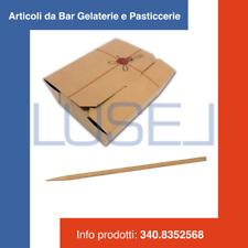 PZ 160 ASTUCCIO RICHIUDIBILE CARTONCINO FORMATO PICCOLO + PZ 1000 SPIEDINI CM 15