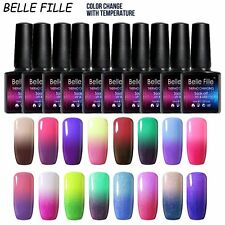 Belle Fille Chameleon Temperature Color Change Nail Gel Polish Soak Off Uv 10ml