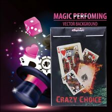 New Crazy Choice Card Deck Magic Trick Close Up Turn Cards To The Same Magic Toy