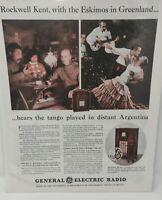 Vintage 1934 General Electric Radio Print Advertisement Ad