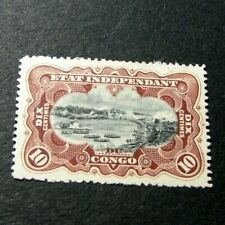 Belgian Congo Stamp Scott# 17 River Scene on the Congo 1894-1901 MH H43