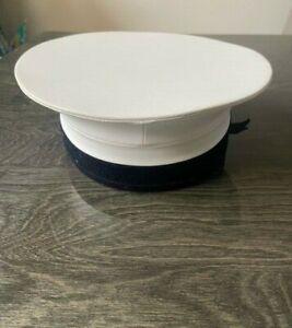 Genuine British Army RN Royal Navy Class 2 White Sailor Pork Pie Hat Uniform