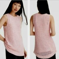 Lou and grey Large Sleeveless Tank Top Sweater Pink New $59.50 Womens Tunic