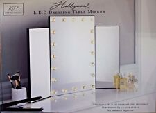 Triple Dressing Table Make up Mirror with 20 LED Lights Large Tri Fold
