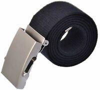 Stoffgürtel mit Logo 100-150 cm Canvas Belt schiebe Schnalle 13-SZN-SMAK