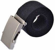 Stoffgürtel  100-150 cm  Schiebe Schnalle Canvas Jeans Gürtel 4 cm breit S-MAK