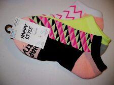 Happy Style Socks Sport Low Cut Socks 3 Pair Shoe Size 5.5-9.5 NEW #26