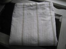 SIMPLY SHABBY CHIC RACHEL ASHWELL STRIPED NEUTRAL FLAT QUEEN SHEET  #209