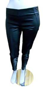 Cafe' Noir pantaloni donna eco pelle vita alta push up neri sexy invernali da M