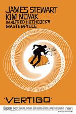 Vertigo Alfred Hitchcock Poster! Psychological thriller James Stewart Acrophobia