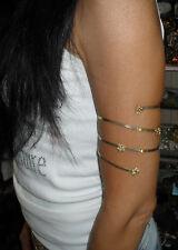 bracelet esclave spirale bras pl OR AVEC STRASS SWAROVSKI