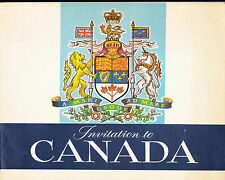 Invitation to Canada (1963) Travel Booklet 8 1/2 x 10 1/2 (48 pp)
