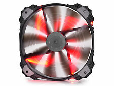 DEEPCOOL XFAN 200 R Semi Transparent Black Fan 200mm with Red LED